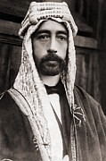 British Portraits Framed Prints - King Faisal Faysal Of Iraq 1885–33 Framed Print by Everett
