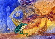 Amphibians Mixed Media Framed Prints - King-fish Framed Print by Svetlana and Sabir Gadghievs