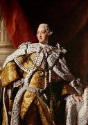 Portraits Oil Framed Prints - King George III Framed Print by Allan Ramsay