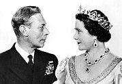 King George Vi Prints - King George Vi And Queen Elizabeth Print by Everett