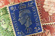 Stamp Collection Art - King George vintage stamps. by Fernando Barozza
