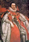 1600s Posters - King James I 1566-1625, Ruled England Poster by Everett
