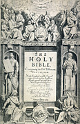 Titlepage Prints - King James I Bible, 1611 Print by Granger