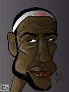 Lebron Metal Prints - King James Metal Print by Mark Baines