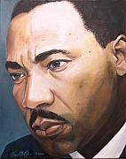 Martin Luther King Jr. Paintings - King by Kenneth Kelsoe
