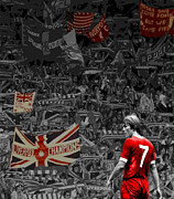 Liverpool Prints - King Kenny Print by Bedlam Arthouse