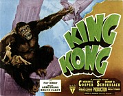 1933 Movies Prints - King Kong, 1933 Rko Re-issue Poster Print by Everett
