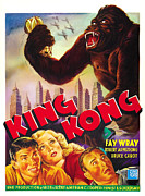 Horror Fantasy Movies Posters - King Kong, Bottom Left, From Left Bruce Poster by Everett