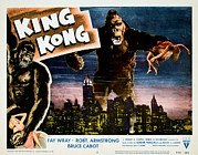 Lobbycard Photo Framed Prints - King Kong, Fay Wray, 1933 Framed Print by Everett