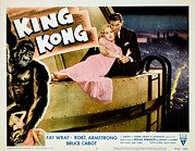 Wray Prints - King Kong, Fay Wray, Bruce Cabot, 1933 Print by Everett
