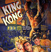 Wray Prints - King Kong, Fay Wray, Robert Armstrong Print by Everett