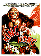 1933 Movies Framed Prints - King Kong, French Poster Art, 1933 Framed Print by Everett