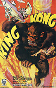 Silver Screen Posters - King Kong Poster by Nomad Art and  Design