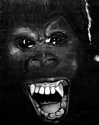 Gorilla Drawings - King Kong by Phyllis Frost