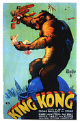 Horror Fantasy Movies Photos - King Kong, Swedish Poster Art, 1933 by Everett