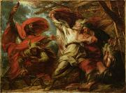 Jester Paintings - King Lear by Benjamin West