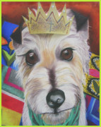 Cute Dog Pastels - King Louie by Michelle Hayden-Marsan