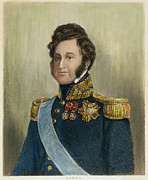 Sideburns Framed Prints - King Louis Philippe Framed Print by Granger