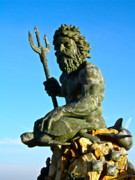 Oceanfront Metal Prints - King Neptune Metal Print by E Robert Dee