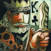 Sword Pastels - King of Clubs by Erik Pearson