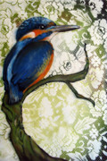 Kingfisher Mixed Media - King of Colour by Faunagraphic