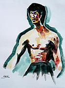 Bruce Lee Painting Originals - King of Jeet Kune Do by Abin Raj