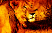 Threats Digital Art - King of Jungle by Nilay Tailor