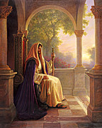 Pillars Framed Prints - King of Kings Framed Print by Greg Olsen