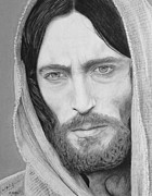 Jesus Drawings Framed Prints - King of Kings Framed Print by Miguel Rodriguez