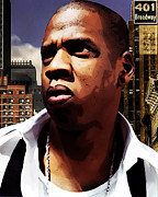 Jay Z Art - King of New York by The DigArtisT