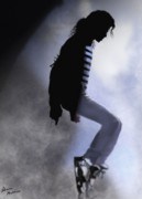 Mj Digital Art Metal Prints - King of Pop Metal Print by Alicia Mullins