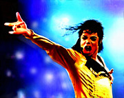 Michael Jackson Art - King of pop by Frank  Powell
