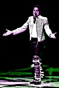 Michael Jackson Metal Prints - King of Pop Metal Print by George Pedro