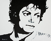 Michael Jackson Metal Prints - King of Pop Metal Print by Katharina Filus