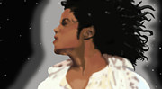 Mj Digital Art Prints - King Of Pop King of The Universe Print by Diva Chavez