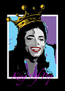 Michael Jackson Mixed Media Posters - King Of Pop Poster by Samuel Veta