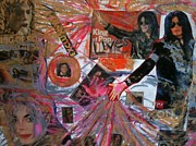Michael Jackson Mixed Media Prints - King of Pop Print by Todd Monaghan