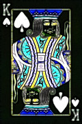Casino Digital Art Prints - King of Spades - v2 Print by Wingsdomain Art and Photography