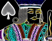 Playing Cards Digital Art - King of Spades - v4 by Wingsdomain Art and Photography