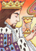 Colored Pencil Prints - King of Spades Print by Amy S Turner