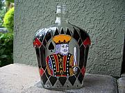 Royal Glass Art - King of Spades  by Eileen Switzer
