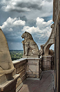 Gargoyle Lion Posters - King of the Beasts in the Land of the Braves Poster by Farol Tomson