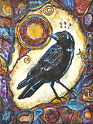Brother Mixed Media - King of the Crows - Children of the Earth Series by Patricia Allingham Carlson