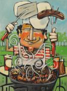 Stripped Paintings - King of the Grill by Tim Nyberg