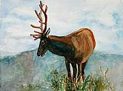 Loveland Artist Prints - King of the Hill Print by Mary Benke