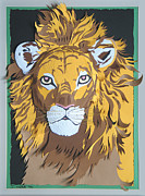 Portrait Sculpture Originals - King Of The Jungle by John Hebb