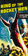 1949 Movies Prints - King Of The Rocket Men, Poster Art, 1949 Print by Everett