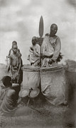 1920s Candid Art - King Of Uganda Back Center by Everett