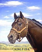 Quarter Horse Prints - King P234 Print by Howard Dubois
