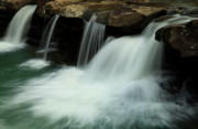 Arkansas Photo Posters - King River Falls in Spring Poster by Iris Greenwell